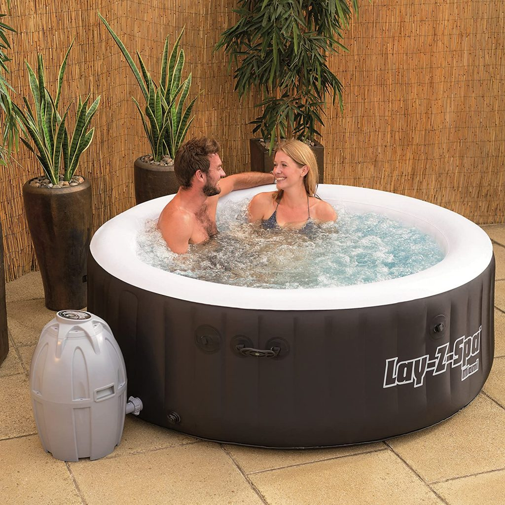 inflatable hot tub indoors
