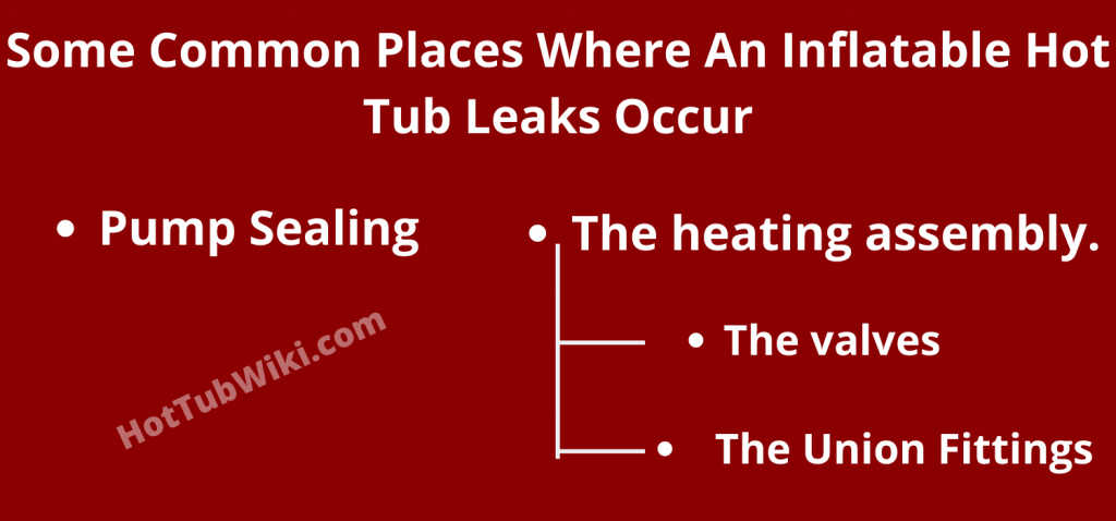 How to find Inflatable Hot Tub Leaks Occur