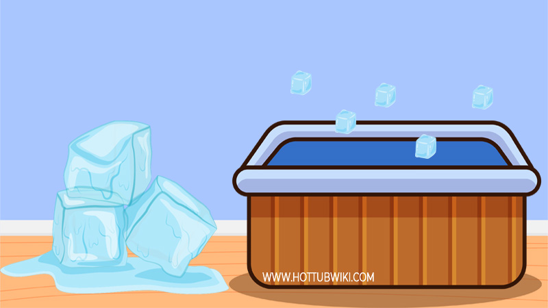 What about ice? Can you put ice in your hot tub? Yes, you can. If you want to lower your water temperature faster, then you can throw some ice into the water.