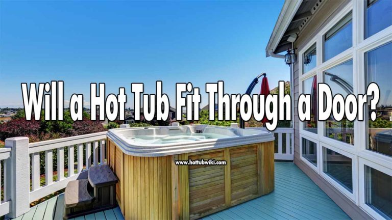 Hot tubs come in different sizes, so will a hot tub fit through a door? It depends. As I said, they come in different sizes, plus different houses have different doors. To know the exact answer you need to calculate the width and height of the door and compare it to the hot tub you want to buy.