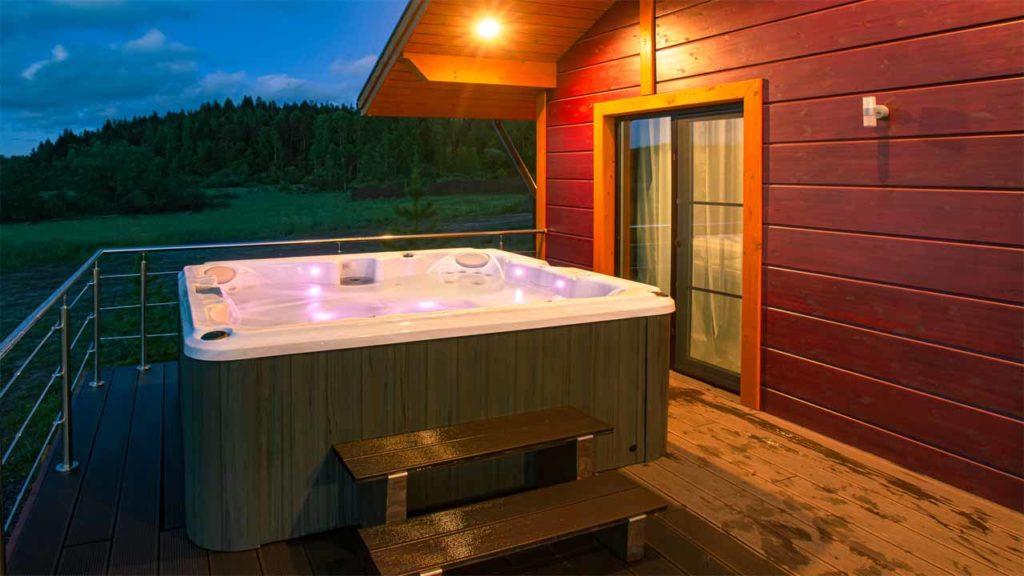If you are using it indoors then you need to know how to soundproof a hot tub. To do that, you can use spray foam or you can use fiberglass.