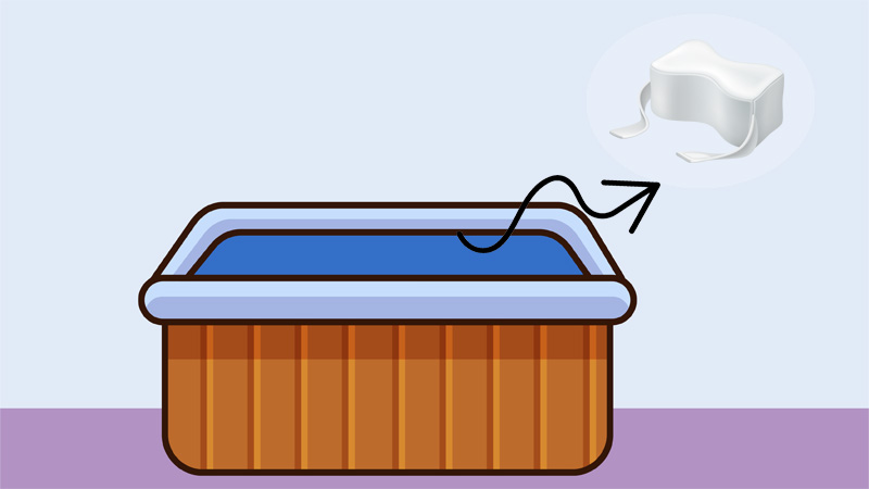 And this is it, this is how the hot tub pillow looks after you clean it using our method.