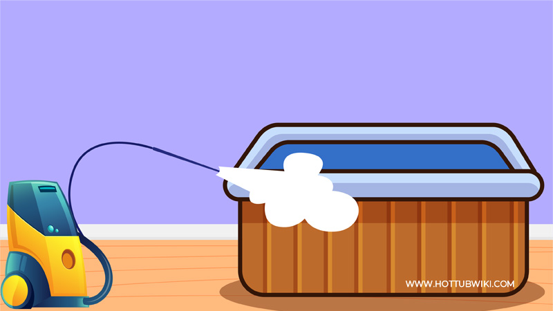You can use a pressure washer to clean a regular hot tub. But, can you use a pressure washer to clean an inflatable hot tub? Yes, you can. But, you need to keep a distance between the hot tub and the pressure washer.