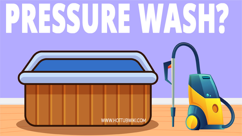 Power washing does wonder. But, can you pressure wash a hot tub? Yes, you can. But, you need to use less than 1500 PSI.