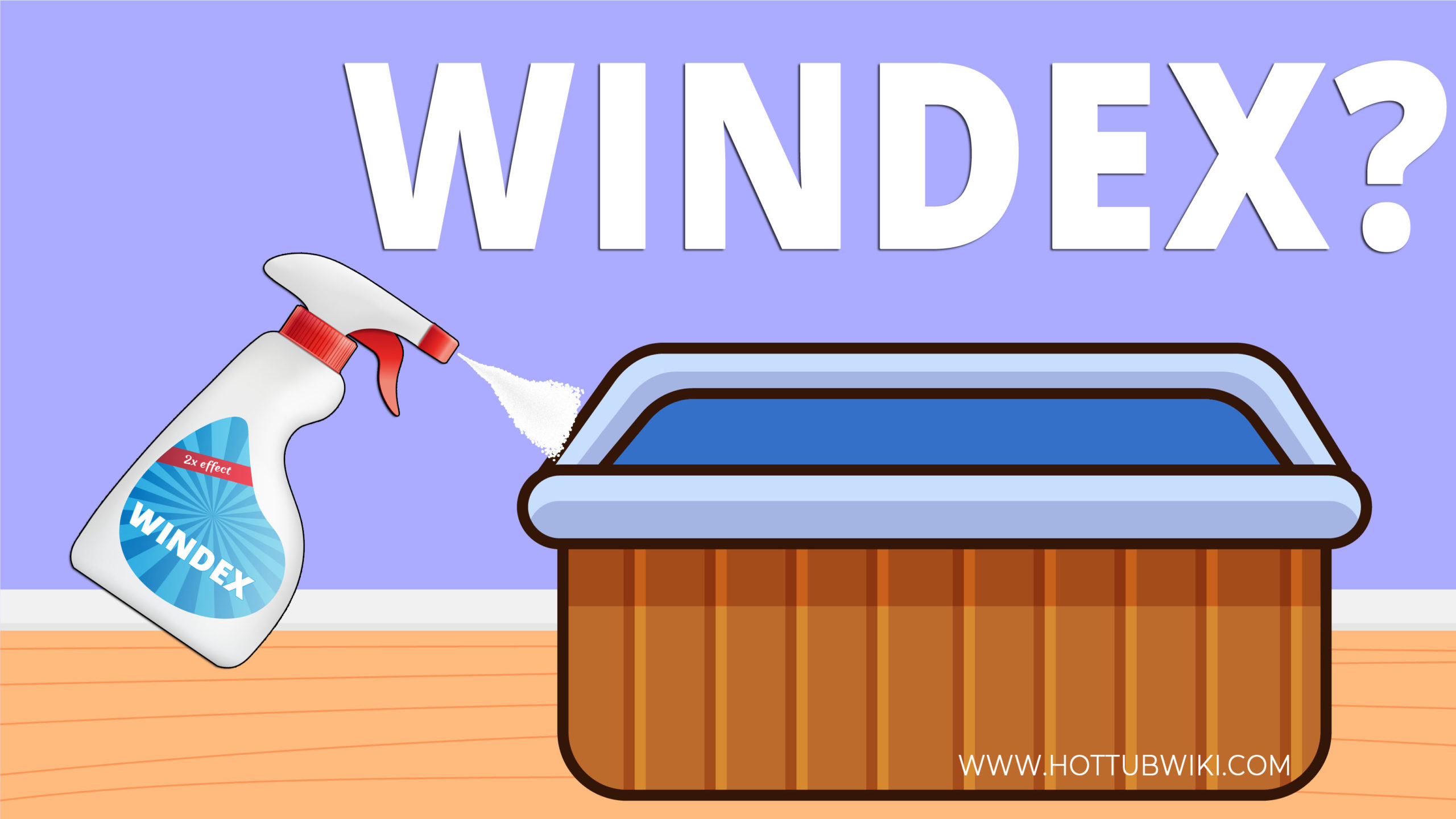 If you have ever wondered-- can you use Windex to clean your hot tub, then here's the answer. You can use Windex to clean the shell of your hot tub. But, don't use too much.