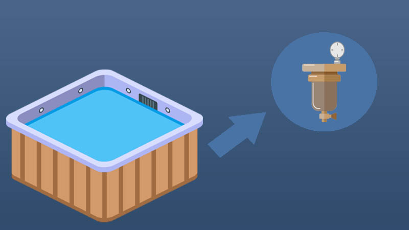 If you see that you are not getting enough water from the filters, then your hot tub has an air lock. There are many ways to fix this, but we shared two of the methods we mainly use. Check how to fix a hot tub air lock guide and use the methods we shared.