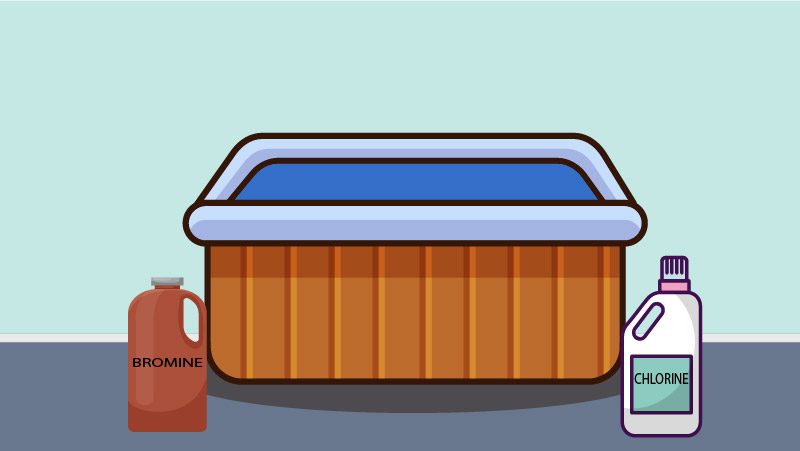 If you see that your hair is getting dry after using the hot tub, then you probably have too much chlorine or bromine in your hot tub. You can learn how to lower bromine levels in a hot tub by reading our post.