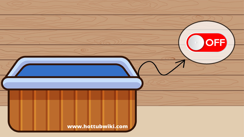 Before starting to clean your spa filters, you need to turn off the hot tub.
