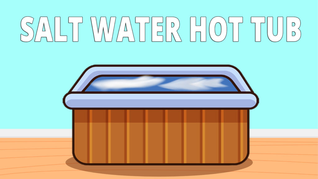 The salt water hot tub is a normal hot tub. It just uses a chlorinator to convert the salt into chlorine to keep the water clean. The salt costs less, and you don't have to manually add it every few days, and that's why people go for a salt hot tub.