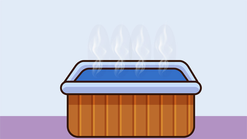 You can't stop the evaporation process. But, you can minimize it. So, how to prevent hot tubs from losing water? Use a hot tub cover, use a lower water temperature, and protect your hot tub from the sun.