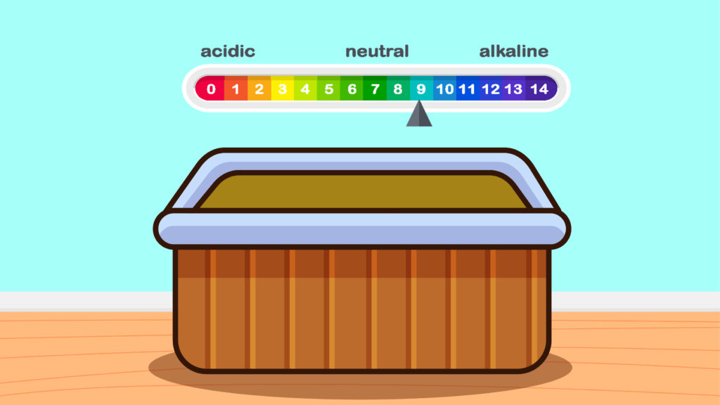 Now, it's time to learn how to remove hot tub stains. The first thing you want to do is to test the water chemistry balance. If you have too much chlorine or bromine you need to fix that.