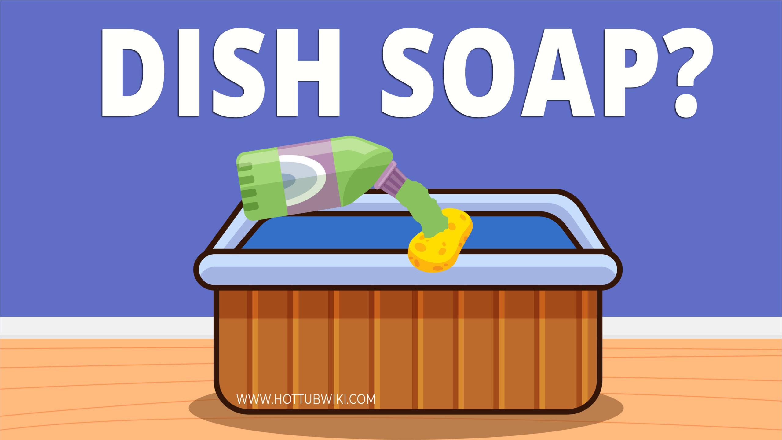 You can use dish soap to clean most things. But, can you use dish soap to clean a hot tub? You can, but it isn't recommended. Some products will do a better job than dish soap when it comes to cleaning a hot tub.