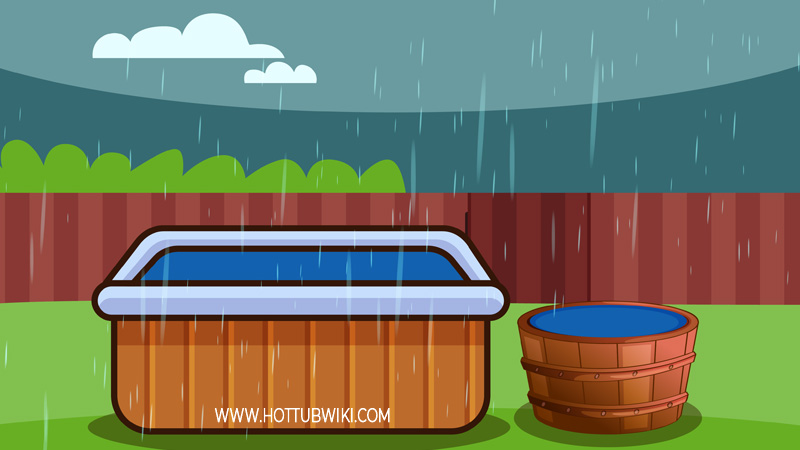Use rainwater is one of many ways to save some money while using the hot tub. Just make sure to use a filter, and clean your hot tub filters after you filled the hot tub.