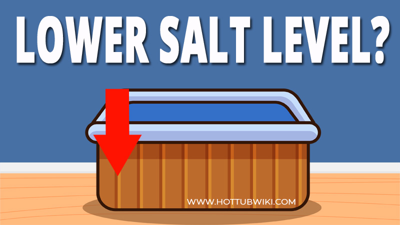 If you see stains or your metal getting corroded, then you might have too much salt in your hot tub. So, how to lower salt level in a hot tub? You can do that by adding fresh water, removing some of the salt water, and then adding more fresh water.