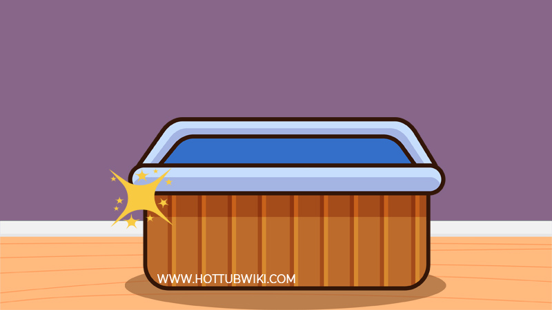 One of the many benefits of using rubbing alcohol to clean a hot tub is that it gives the hot tub shell a glossy appearance.