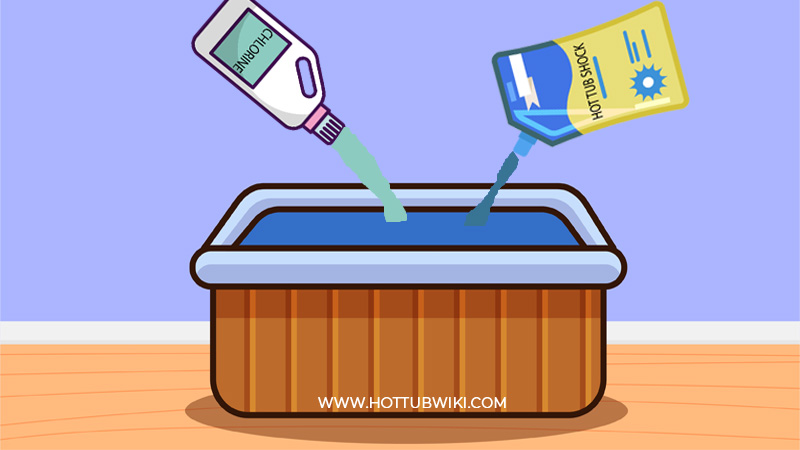 After you checked the water chemistry levels, you need to shock the salt water hot tub.