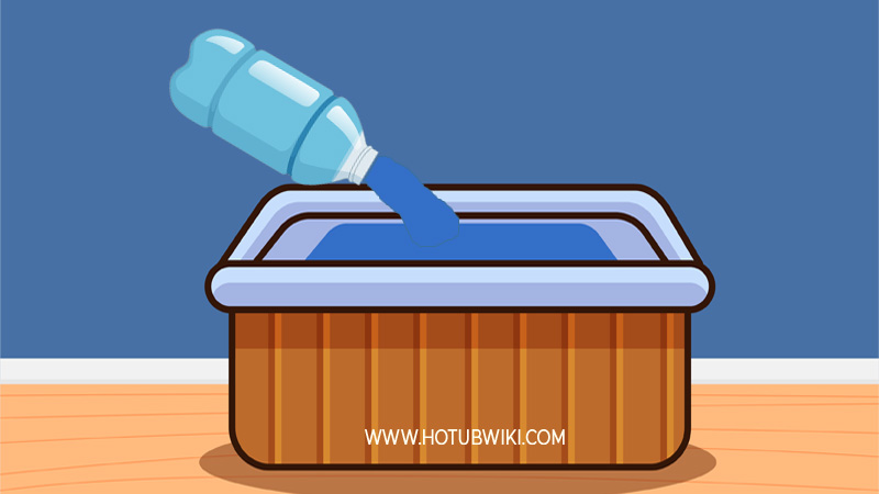 The first thing you want to do is to add fresh water. Adding fresh water will lower the salt levels in your hot tub.