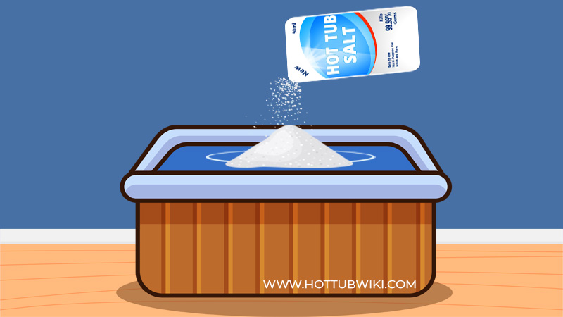 If you have too much salt in your hot tub, then you need to lower it.