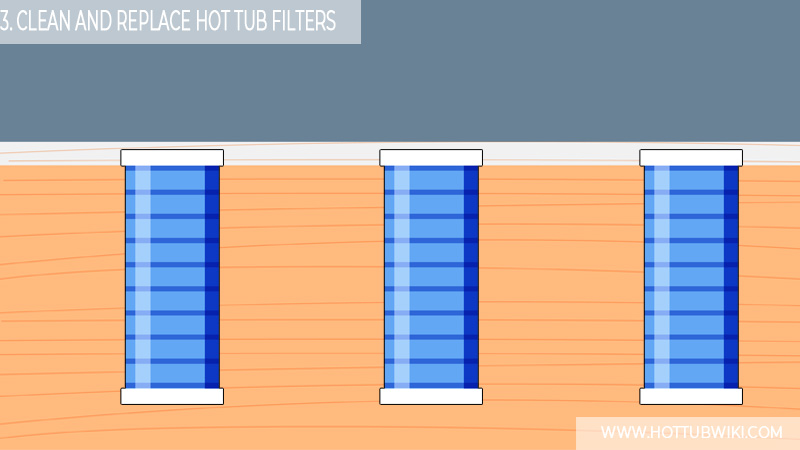 3. Clean And Replace Hot Tub Filters