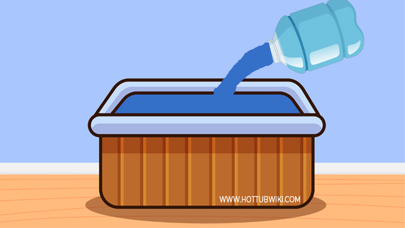 You should add water continuously because hot tubs lose a lot of water due to evaporation and water splash.