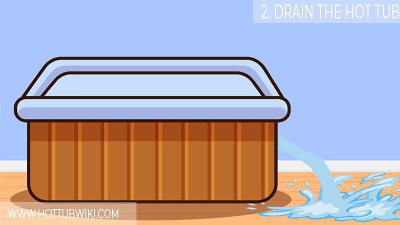 2. Drain The Hot Tub