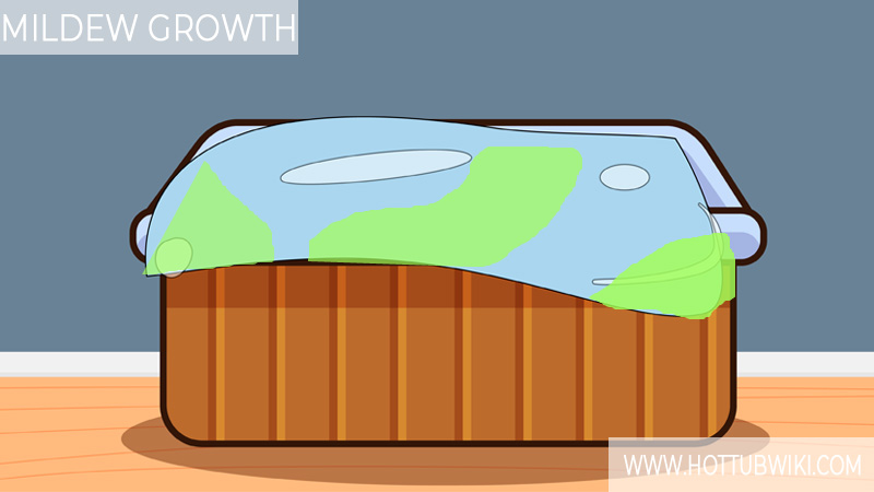 If you leave the hot tub cover on for a long time then mildew can start to grow on your hot tub cover.