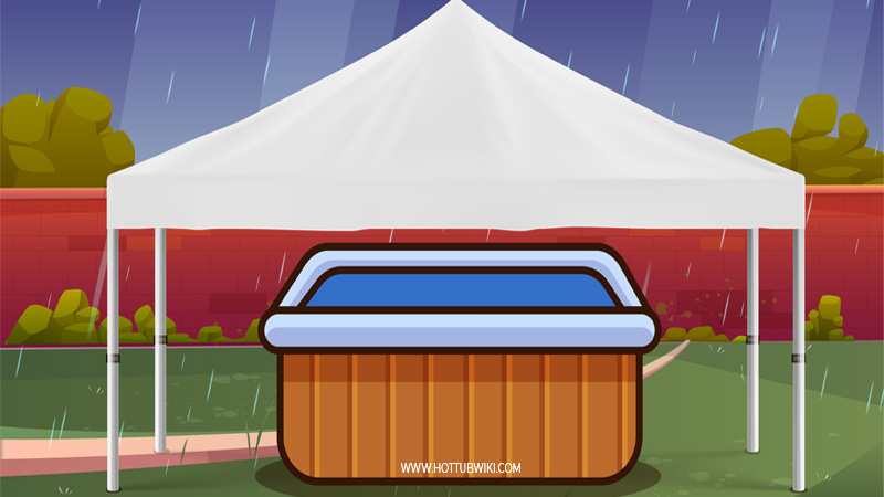 One of the many benefits of using a hot tub roof is that it protects you from harsh weather. You can use the hot tub even if it's raining if you have a hot tub roof.