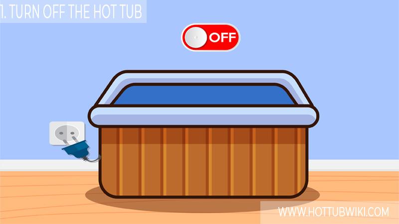 1. Turn Off And Unplug The Hot Tub