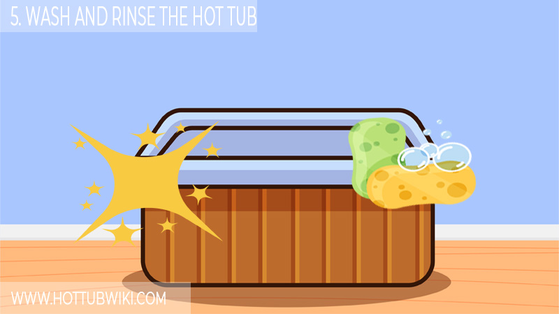 5. Wash And Rinse The Hot Tub